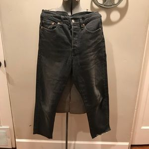 Wedgie icon Levi's high rise rinsed black size 30